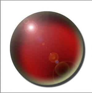 silver glass ball
