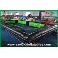 China 6m * 3m Black Inflatable Snookball Tables Indoor Fun Inflatable Sports Arena on sale