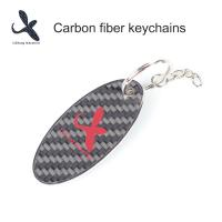 Quality Practical Vechicle Accessory Gift Items Carbon Fiber Keychains Carbon Fibre Keytags for sale
