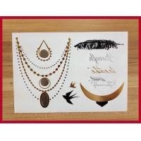 Quality Removeable temporary metallic tattoos for sale