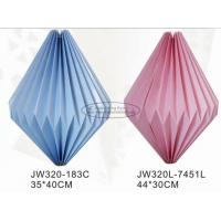 Quality Blue Pink Colorful Origami Paper Lantern , Origami Chinese Lantern 40cm Paper Lampion for sale