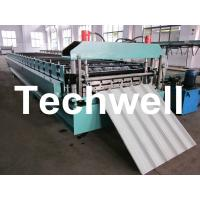China Aluminium Roofing Sheet Making Machine With Automatic PLC Control System on sale