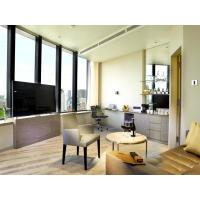 Buy Fashion Apartment Hotel Room Furniture Wooden Headboard with Storage Bed and at wholesale prices