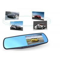 Quality Rear View Mirror Camera Recorder / Dash Cam Mirror Mount With GPS Navigation for sale