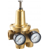Quality 3113 Diaphragm Type DN20 Water Pressure Reducing Brass Valve with Meter Outlets & Built-in Filter for sale