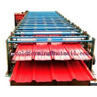 Quality Double Layers Wall Panel Roll Forming Machine Automatic High Speed have Panasonic PLC control for sale