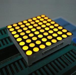 Yellow 3mm 8x8 Dot Matrix Led Display With White Dots Black Surface