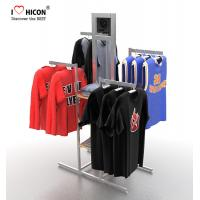 Quality Your Logo Clothing Store Fixtures Display Clothes Rack 4-way For Retail Store for sale