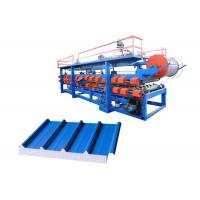 Quality Power 32 Kw Steel Pu Sandwich Panel Machine , Pu Sandwich Panel Production Line for sale