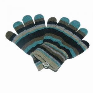 China The Color Stripe magic glove on sale