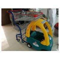Quality Plastic / Steel Supermarket Children Shopping Cart , Baby Shopping Trolleys for sale