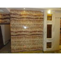 China UV coating mable textured waterproof bathroom wall covering panels wainscot panels Sliding on sale