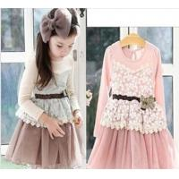 Quality Temperament girls lace bowknot falbala gauze skirt of the girls for sale
