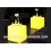 Quality Humanization illuminated LED Cube Furniture table or desk with led light inside for sale