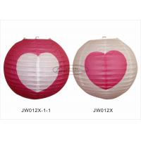 Quality Decorative Hanging Colored Chinese Paper Lanterns With Lights For Weddings for sale