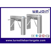 Quality Swipe Card Turnstile Access Control System , Pedestrian Barrier Gate RS232 Communication for sale
