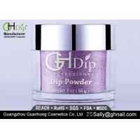 Quality Odorless Non Toxic Acrylic Nail Powder Gel Nail Polish Purple Color for sale