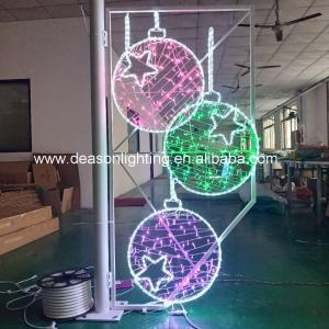 Quality christmas street pole motif light decorations for sale