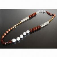 Quality Multiple-unit Beaded Necklace with Length of 100cm, Different Designs are Available for sale