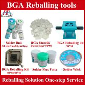 Quality universal reballing kit and 265pcs bga reballing 90*90 stencil for sale