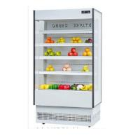 Quality Hypermarket Multideck Open Chiller Air Curtain Cabinet Refrigerator Customized Color for sale