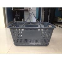 Quality Grocery Store Plastic Handle Shopping Basket ,  PP Supermarket Shopping Baskets for sale