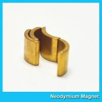 Quality Permanent Neodymium Motor Magnets NiCuNi Coating Bright Silver Color for sale