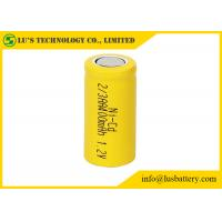 Quality NICD 1.2V 2/3AA 400mah Nickel Cadmium Nicd Battery Low Inner Resistance for sale