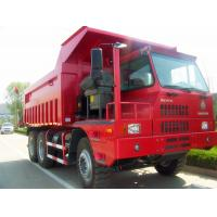 Quality HOVA 60 Ton 6x4 Mining Heavy Duty Dump Truck for Transport , Red for sale