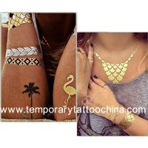 Quality Body Jewelry Tattoo,Tattos Metallic,Flash Metallic Gold Silver Tattoos for sale