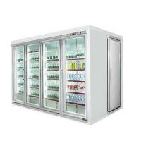 Quality Customized Commercial Beverage Display Cooler With Side Open Door For Back Storage for sale