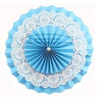 Quality Multilayer Paper Fan Backdrop Round Folding Fans Hanging for sale