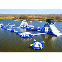 Quality Wake Island Inflatable Water Park Durable Blue Inflatable Aqua Park For Sea for sale