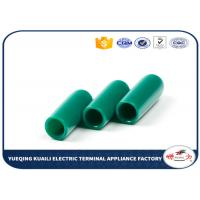 Quality Green Color Pvc Plastic End Caps For Round Tubing / Fence And Furniture Legs 15mm for sale