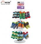 Quality Footwear Shop Metal Display Racks , Rotating Table Top Sock Display Rack for sale