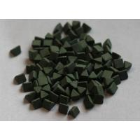 Quality Green color porcelain polishing abrasives media For mass finishing for sale