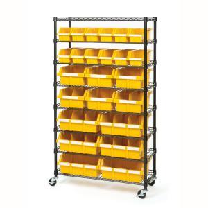 Quality Rolling Adjustable Wire Rack Shelving / 8 Shelves Wire Frame Storage Racks Bin Storage for sale