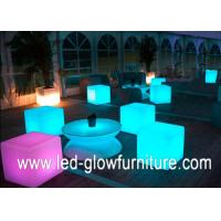 Quality Colorful led cube chair / table With Built - in Certified Rechargeable Lithium Battery for sale