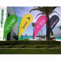 Quality Flying Flag Banner Display with Single/Double Sides and Up to 1.8m Width for sale