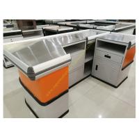 Quality Customized Made Stainless Steel Retail Checkout Counter / Grocery Store Checkout Counter for sale
