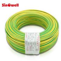Quality Copper Conductor Stranded Electric Wire Cable , Green Yellow Ground Wire 100 m / roll for sale