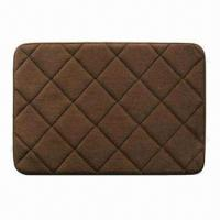 China Bath Mat/Rug, Made of Memory Foam and Coral Fleece and Anti-slipping SBR on sale