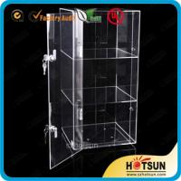 Quality Elegant 3 Tiers Acrylic Display Box with lock,Acrylic Display Case for sale