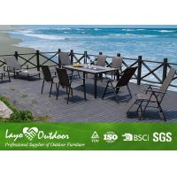 Buy cheap Stone Top Patio Furniture Dining Sets Pest Control With Powder Coating BSCI 10pcs. from Wholesalers