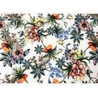 China Sunshine Bed Sheet Material / 94% Polyester Microfiber Fabric Flowers 260GSM on sale