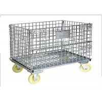 Quality 1200Kgs Metal Mesh Container , L1000mm Wire Container Storage Cages for sale