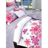 China Flower Cotton Bed Set Durable Bedspreads Sets with Reactive Dyeing on sale