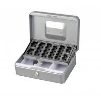 Quality Customized Antitheft Metal Cash Box Euro Money Safe With Removable Coin Tray for sale