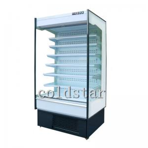 Quality Vegetable Fruit Upright Commercial Open Display Chiller in Supermarket for sale