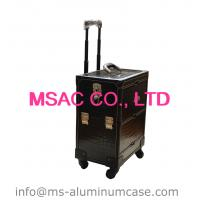 Middle Trolley cosmetics cases makeup cases pu leather beauty cases for travel